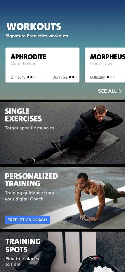 Intensive workouts & individual training plans | FREELETICS